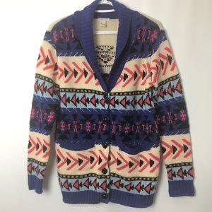 Forever 21 button cardigan southwestern Unisex S